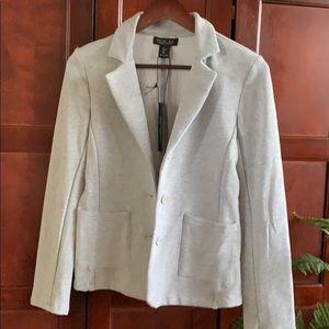 Rachael Zoe grey cotton blazer sm NWT